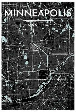 Minneapolis Map Print by Point Two