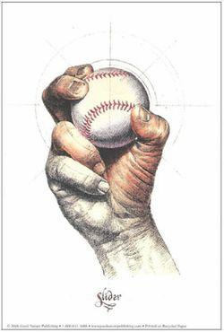 Illustration of a Baseball Pitch: The Slider