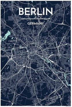 Berlin Map Print by Point Two