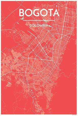 Bogota Map Print by Point Two