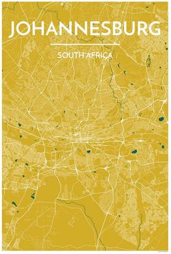 Johannesburg Map Print by Point Two