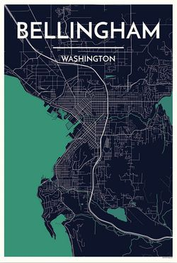 Bellingham City Map Graphic by Point Two