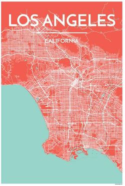 Los Angeles Map Print by Point Two