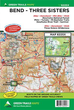 Bend Three Sisters Trail Map - Green Trails on