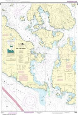 NOAA Chart 18434 - San Juan Channel