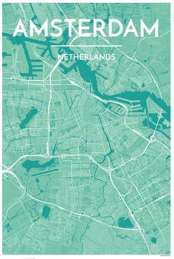 Amsterdam Map Print by Point Two