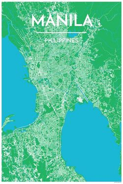 Manila Map Print by Point Two