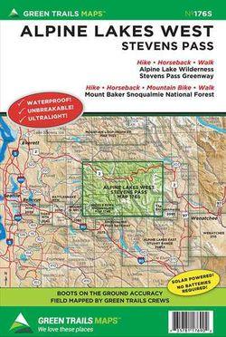 Alpine Lakes Wilderness West Map