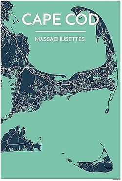 Cape Cod Map Print by Point Two