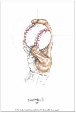 Illustration of a Baseball Pitch: The Curveball