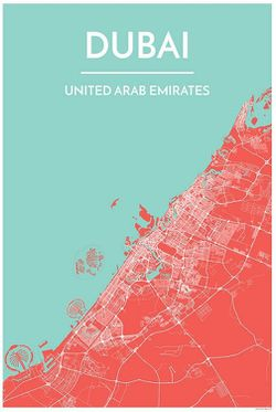 Dubai Map Print by Point Two