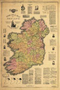 Antique Map of Ireland 1893