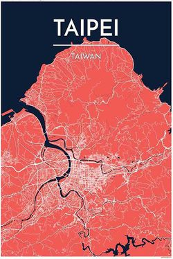 Taipei Map Print by Point Two