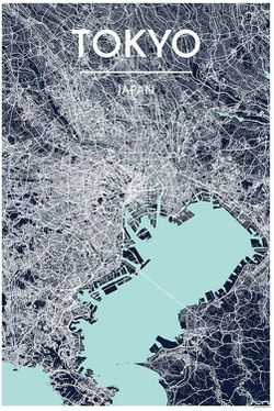 Tokyo Map Print by Point Two