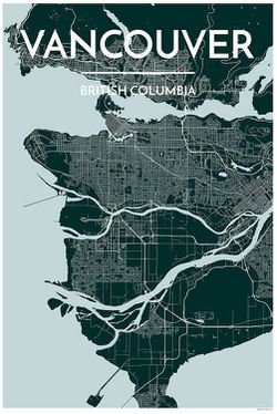 Vancouver Map Print Blue by Point Two