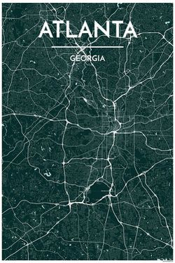 Atlanta Map Print by Point Two