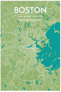 Boston Map Print by Point Two