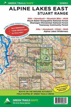 Alpine Lakes Wilderness East Map