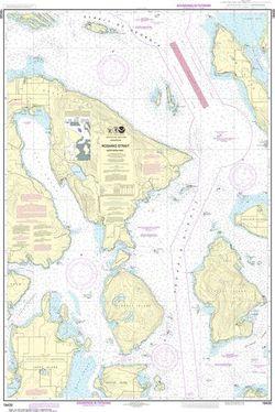 NOAA Chart 18430 - Rosario Strait, Northern Part