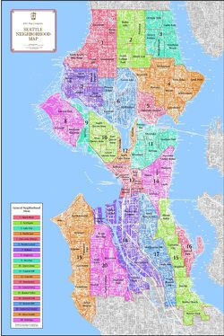 Seattle Neighborhood Map by Kroll Map