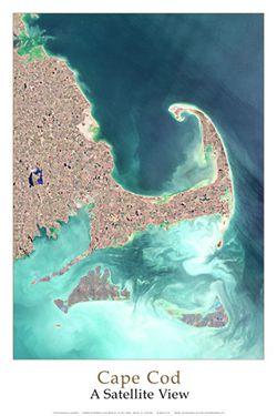 Cape Cod Satellite Poster
