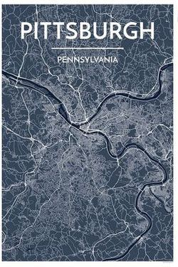 Pittsburgh Map Print by Point Two