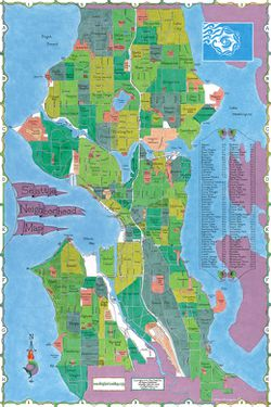 Seattle Neighborhood Map by Big Stick