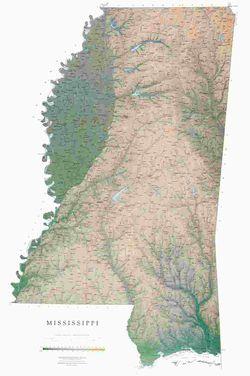 Mississippi Wall Map l Raven Maps
