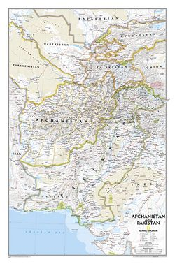 Afghanistan & Pakistan Wall Map by National Geographic
