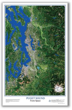 Puget Sound From Space Satellite Image