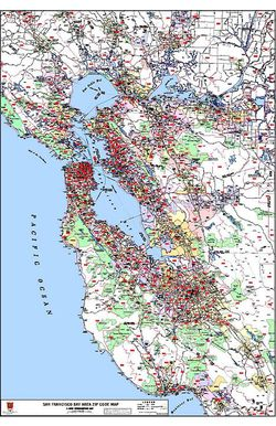 San Francisco ZIP Code Map by Kroll Map