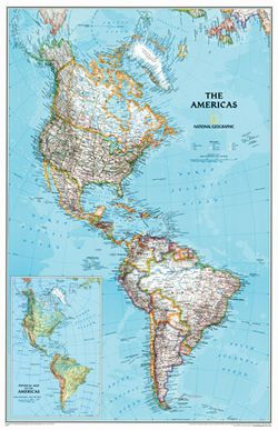 The America's Wall Map by National Geographic
