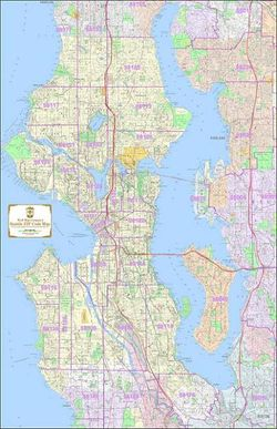 Seattle ZIP Code Map - ZIP Code Map of all of Seattle