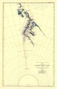 Antique Map of Antarctica 1909