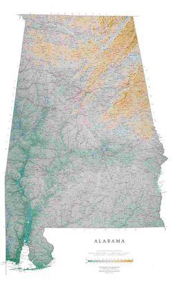 Alabama State Wall Map l Raven Maps