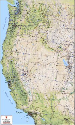 Western States Map Map Of Western United States - Map-western-us