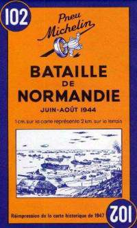 Battle of Normandy Historical Map by Michelin