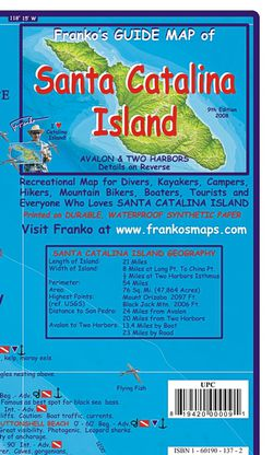 Santa Catalina Island Recreation & Dive Map by Franko