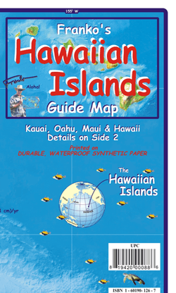 Hawaiian Islands Guide Map by Franko