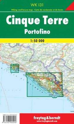 Cinque Terre Travel Map by Freytag & Berndt