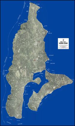 Vashon Island Aerial Map by Kroll Map Company