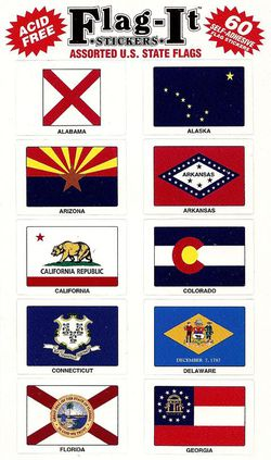 U.S. State Flags Mini Stickers