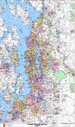 Puget Sound Arterial Zip Code Map