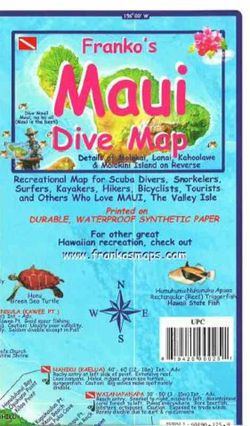 Maui Dive Map by Franko