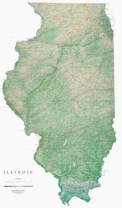 Illinois Wall Map l Raven Maps