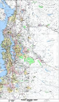 Puget Sound East Arterial Map by Kroll Map Company