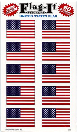 United States Mini Flag Stickers