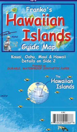 Hawaiian Islands Guide Map by Franko