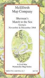 Sherman's March to Sea Map