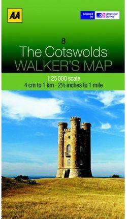 Cotswolds Walking Map